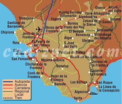 Sur De La Provincia Cadiz 1563